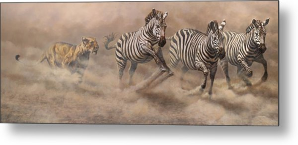 In Pursuit Metal Print