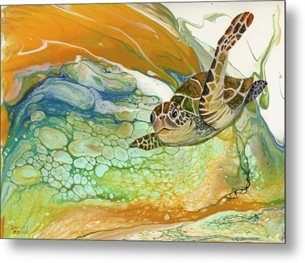 Metal Print featuring the painting In Search Of Sea Grass  by Darice Machel McGuire