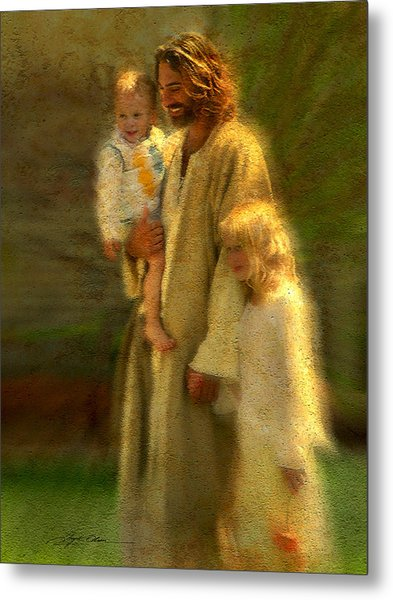 Metal Print featuring the painting In The Arms Of His Love by Greg Olsen