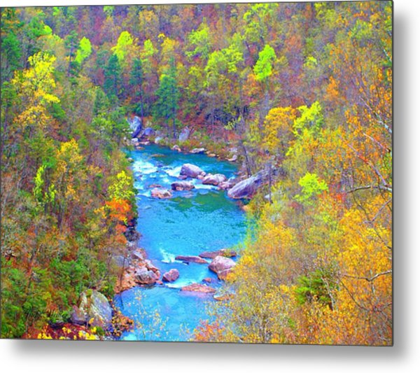 In The Canyon Metal Print by Judy  Waller