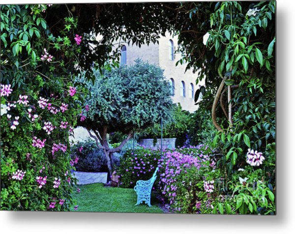 In The Garden At Mount Zion Hotel  Metal Print