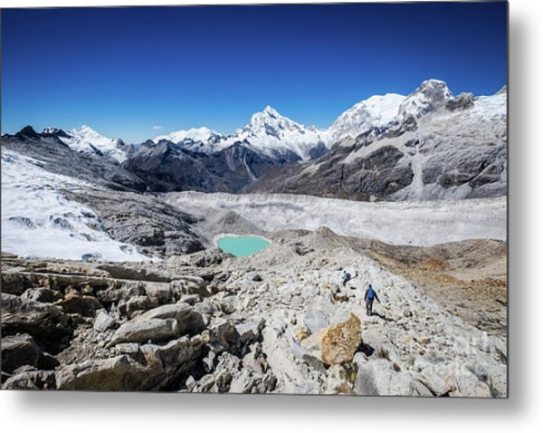 In The Middle Of The Cordillera Blanca Metal Print