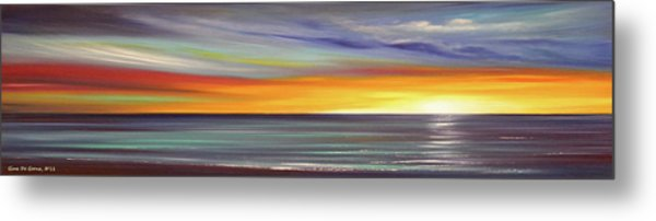 In The Moment Panoramic Sunset Metal Print
