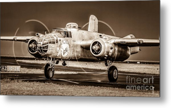 In The Mood - B-25 II Metal Print