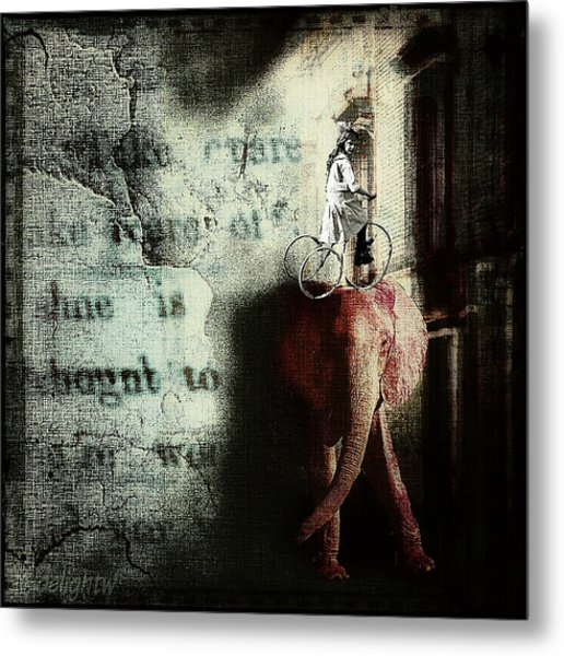 Metal Print featuring the digital art In The Night Nursery by Delight Worthyn