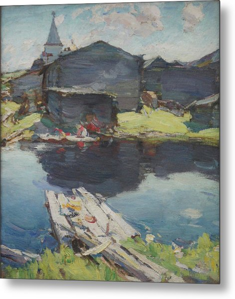In The North Metal Print by Abram Arkhipov