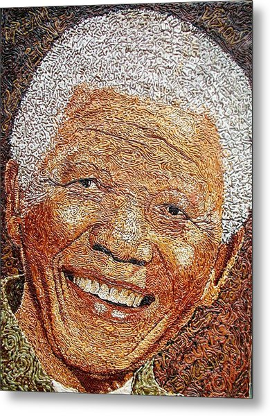 Nelson Mandela - In The Pyramid Of Our Minds Metal Print