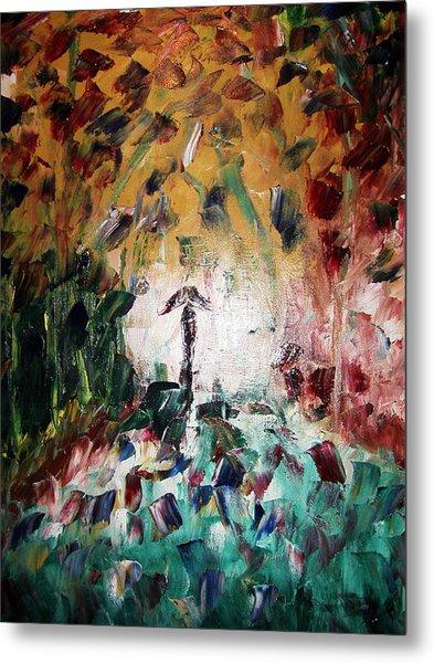 In The Rain Metal Print by Adeniyi Peter