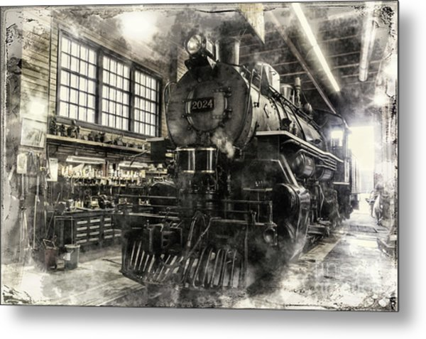In The Roundhouse Metal Print
