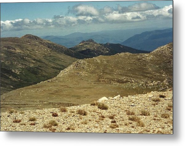 In The Snowy Mountains Metal Print by Adrianne Wood