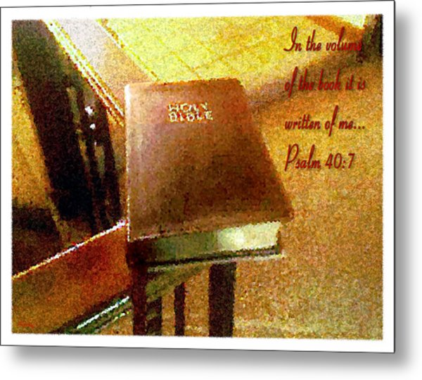 In The Volume Of The Book Metal Print