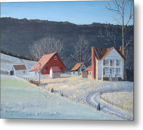 In The Winter Of My Life Metal Print
