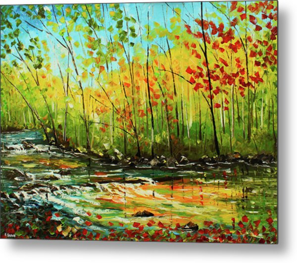 Metal Print featuring the painting In The Woods by Kevin Brown