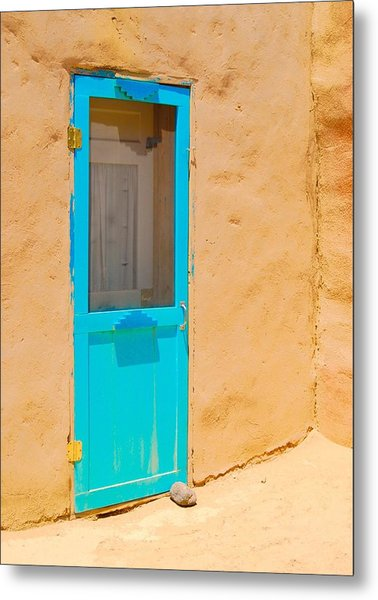 In Through The Blue Door Metal Print