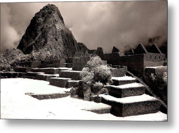 Inca Ruins Peru Machu Picchu Metal Print