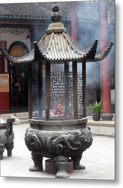 Incense Burner Shanghai Metal Print