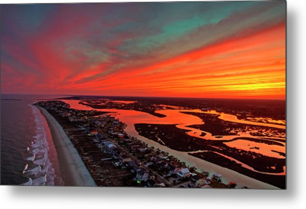 Incredible Point Sunset Metal Print by Robbie Bischoff