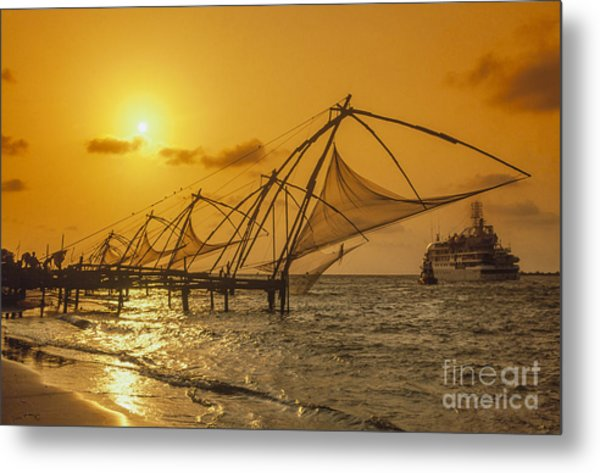 Metal Print featuring the photograph India Cochin by Juergen Held