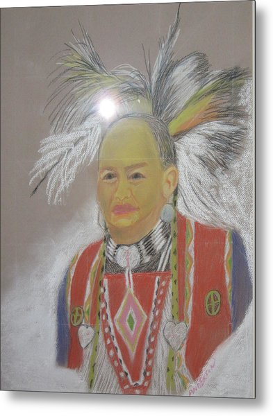 Indian Chief Metal Print by Geanene Anderson