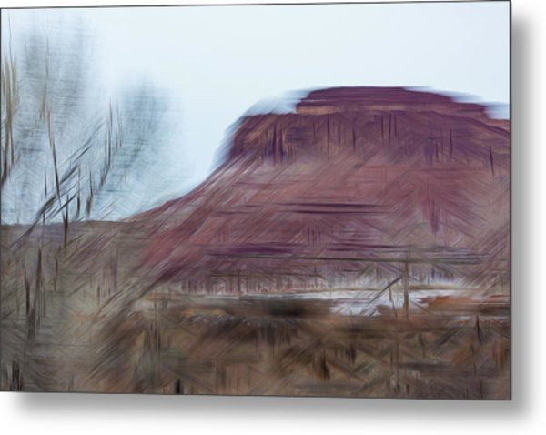Indian Creek Winter Metal Print