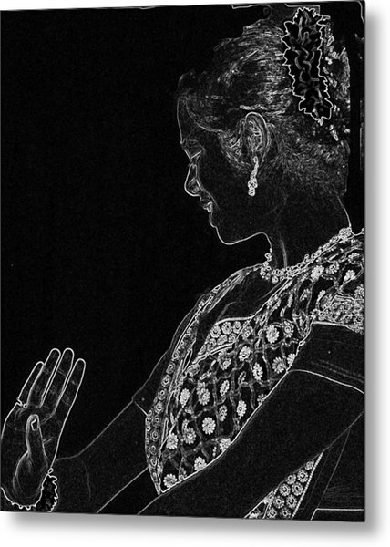 Indian Dancer  Metal Print
