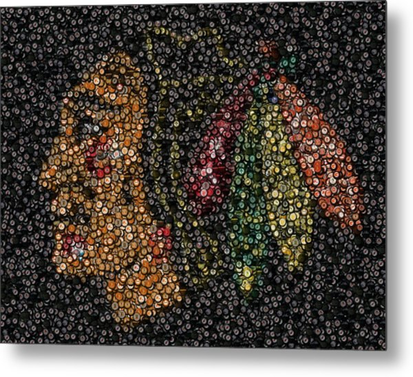 Indian Hockey Puck Mosaic Metal Print