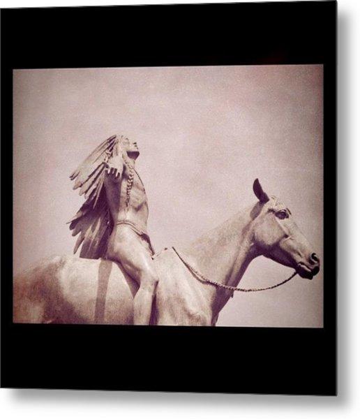 #indian #horse #statue #mfa #boston Metal Print