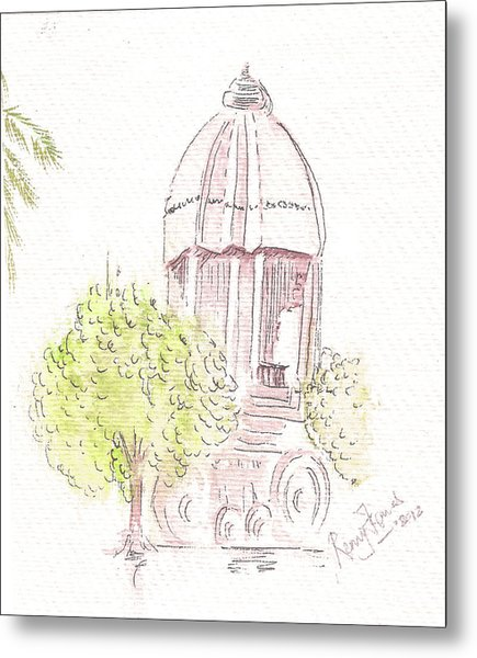 Indian Monument - Valluvarkottam Metal Print by Remy Francis