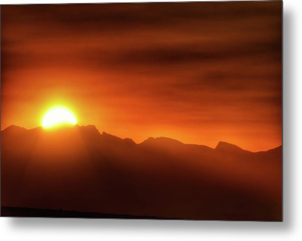 Indian Peaks Sunset Metal Print