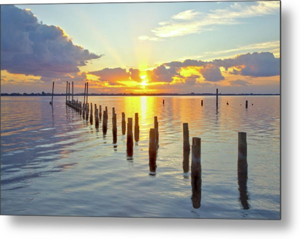 Indian River Sunrise Metal Print