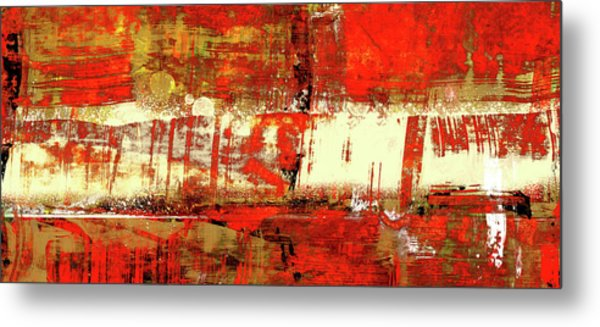 Indian Summer - Red Contemporary Abstract Metal Print