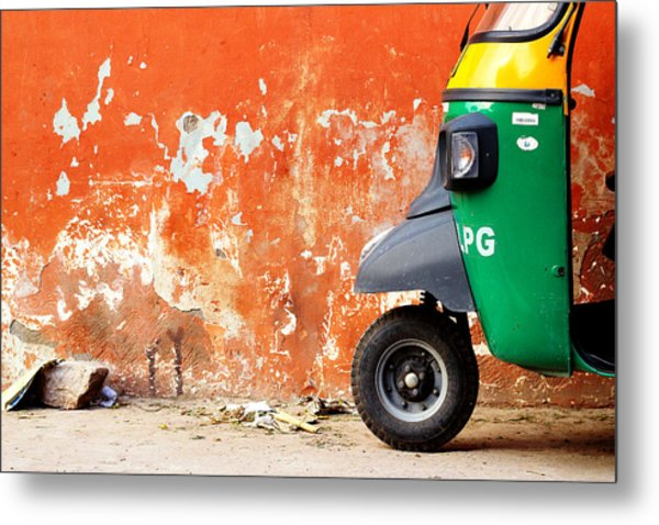 Indian Tuk Tuk Metal Print