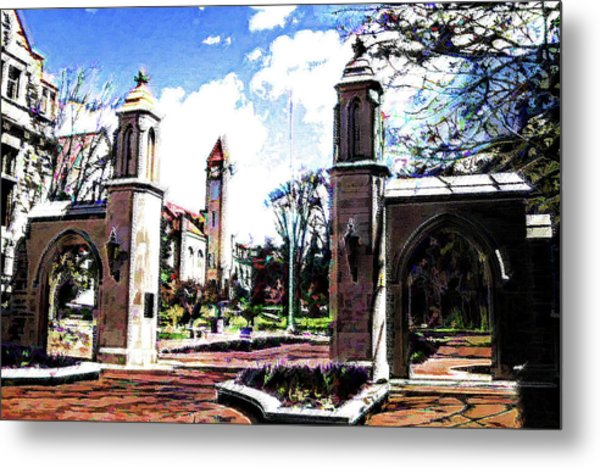 Indiana University Gates Metal Print