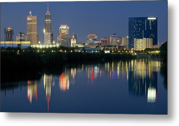 Indianapolis Night Metal Print