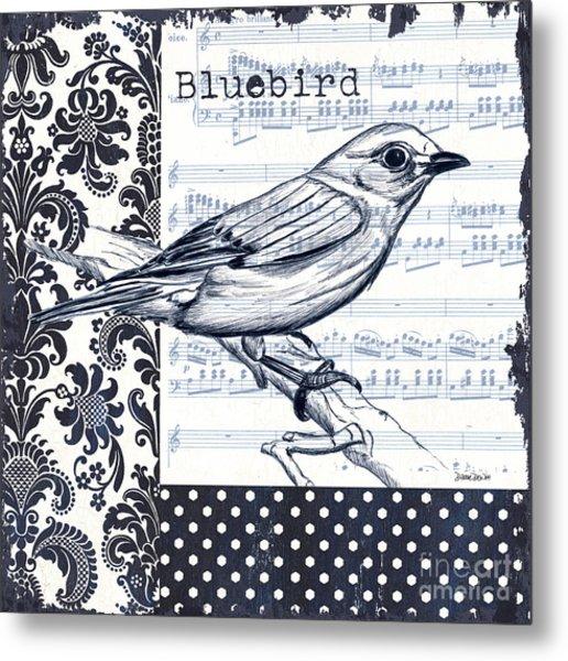 Indigo Vintage Songbird 1 Metal Print