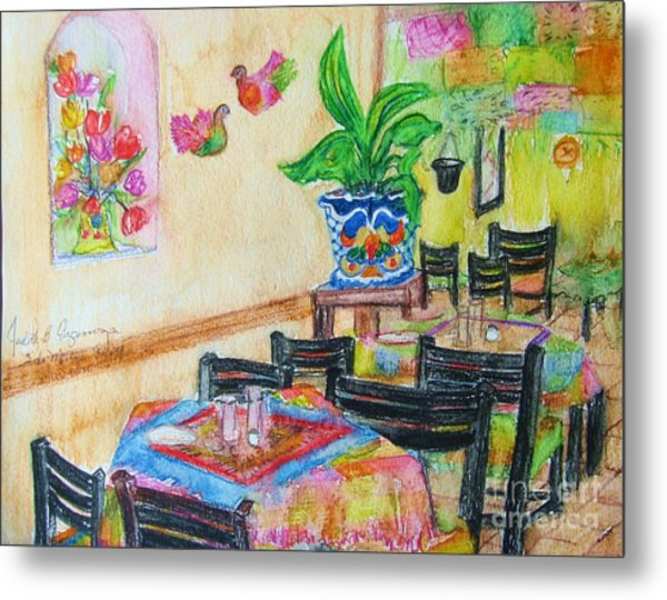 Indoor Cafe - Gifted Metal Print