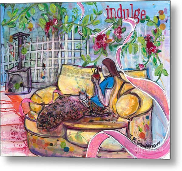 Metal Print featuring the painting Indulge by TM Gand