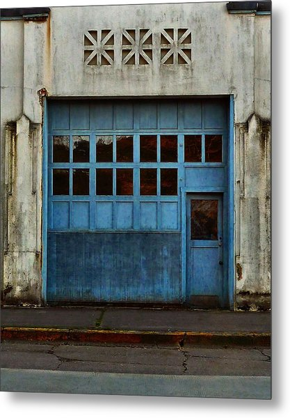 Industrial Blue Metal Print