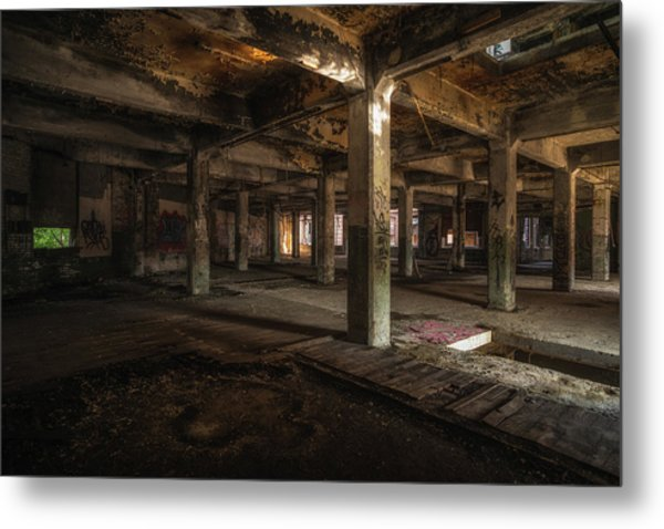 Industrial Catacombs Metal Print