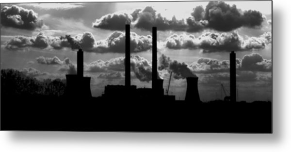 Industrial Night Metal Print