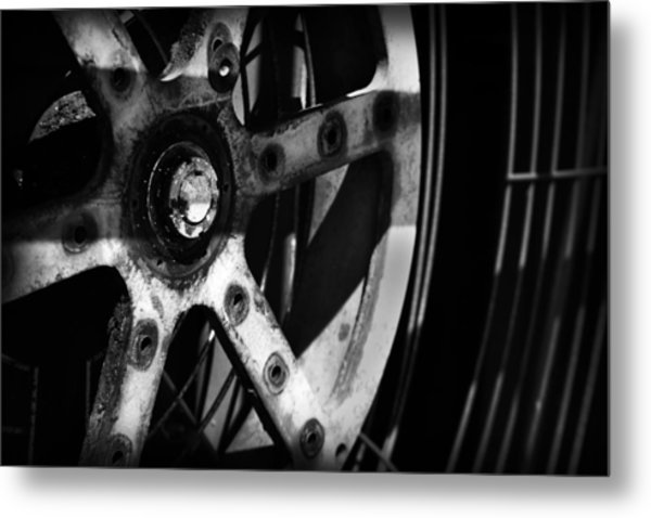 Metal Print featuring the photograph Industrial Gear by Kelly Hazel
