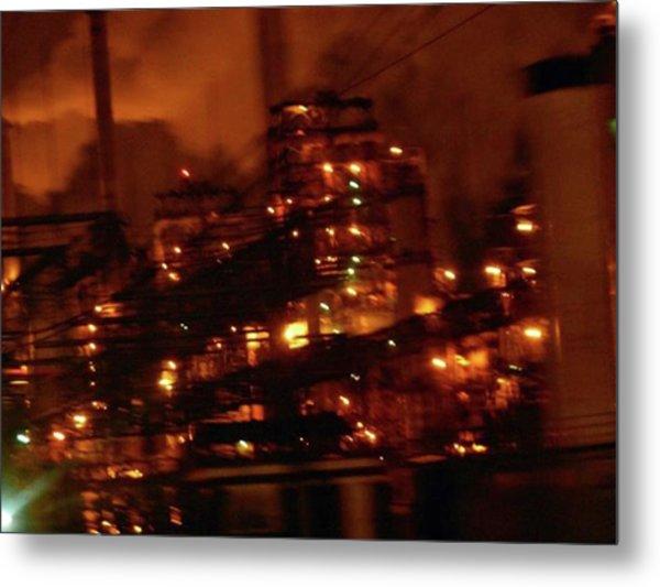 Industrial Nights✴ Steam Punk Metal Print