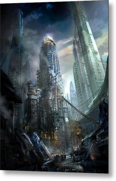 Industrialize Metal Print