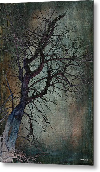 Infared Tree Art Twisted Branches Metal Print