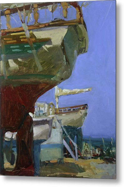 Infinity Awaiting Winter - Plein Air Catalina Island Metal Print