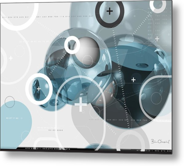 Information Molecule - Abstract Metal Print by Bill ONeil