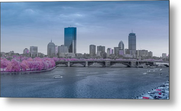 Infrared Boston Metal Print