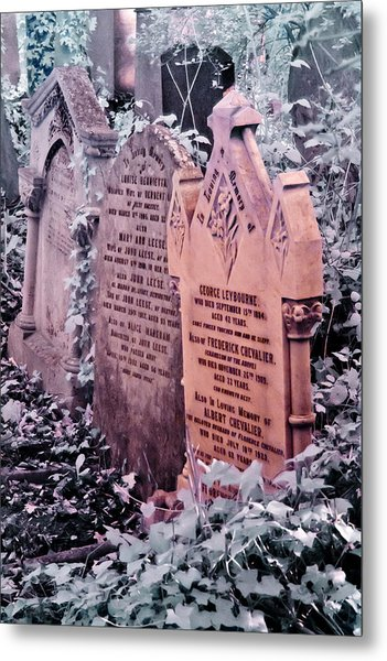 Metal Print featuring the photograph Music Hall Stars At Abney Park Cemetery by Helga Novelli