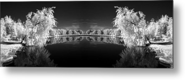 Infrared Reflections Metal Print