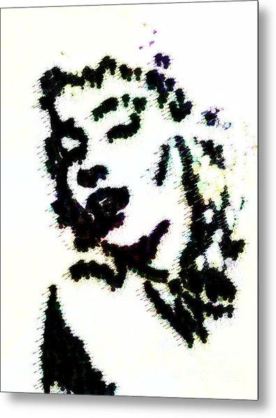 Ink Blot Monroe Metal Print by Arianna Trombley